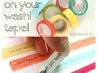 How to put words on washi tape 200x150 Crafts and Color: 15 Fun Washi Tape Projects to Try Out