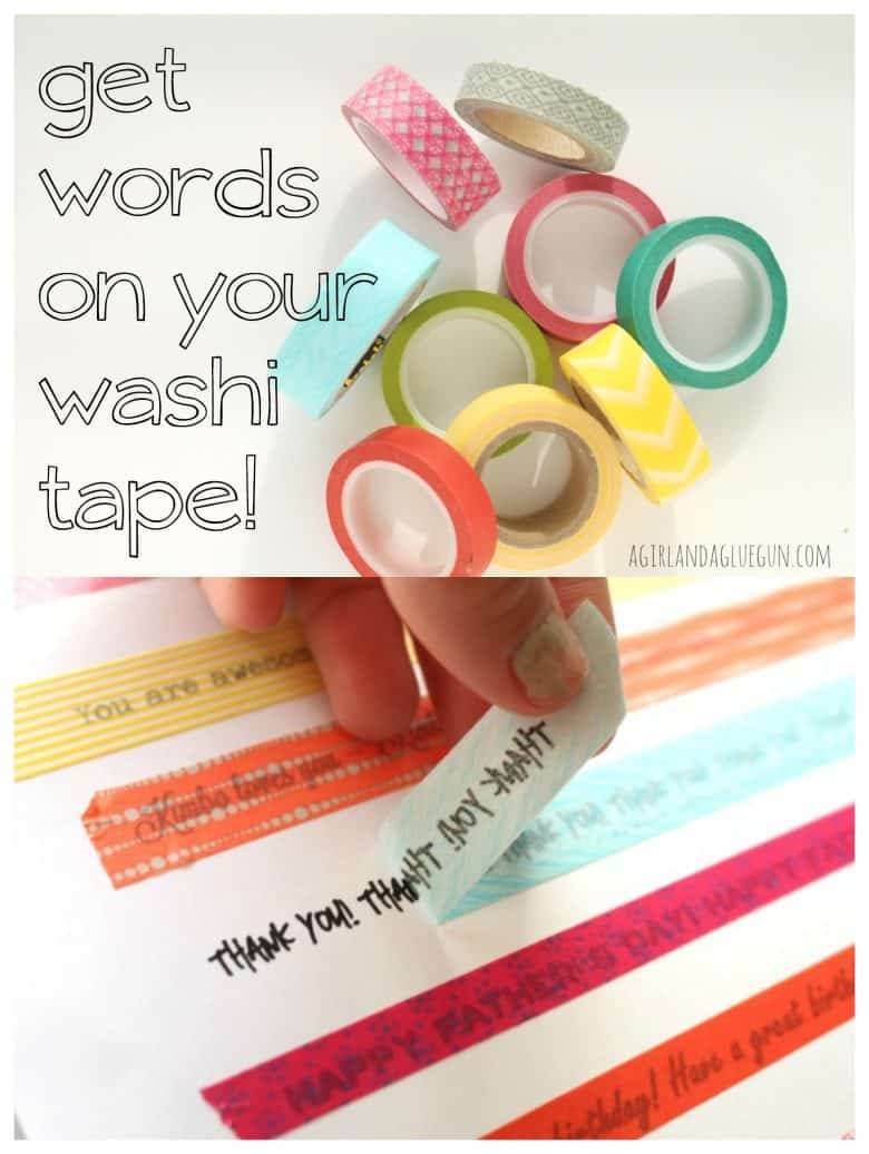 How to put words on washi tape