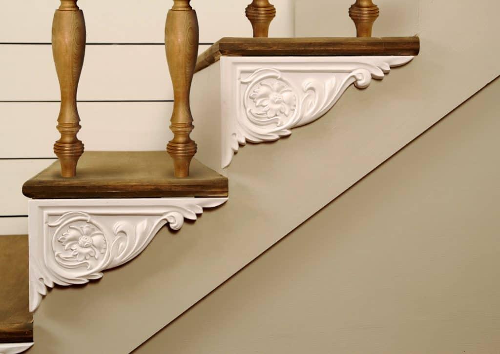 Lovely molded stair bracket update