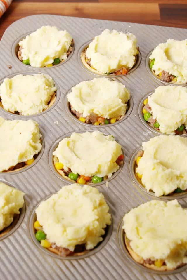 Mini sheperd's pies