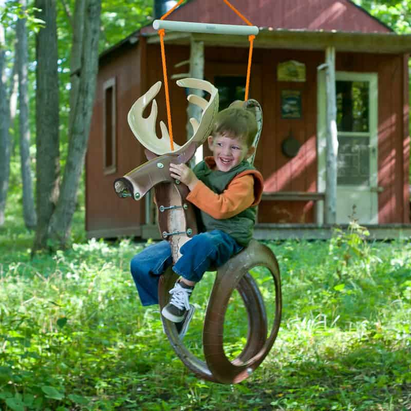 Pony or moose tire swing