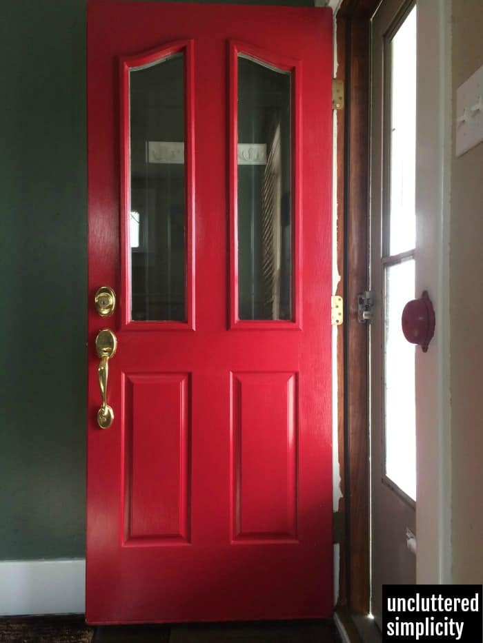 Simple front door makeover on a budget