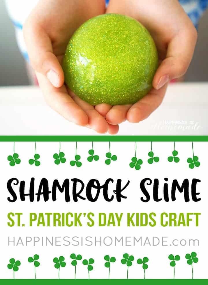 Sparkly shamrock slime