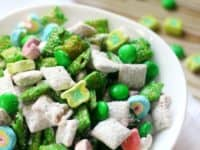 St Patricks Day muddy buddies 200x150 Green and Awesome: 15 Delicious St Patrick's Day Snack Ideas!