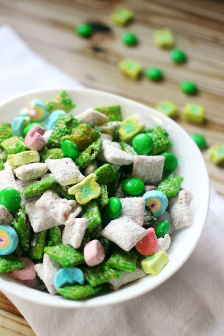 St Patrick's Day muddy buddies