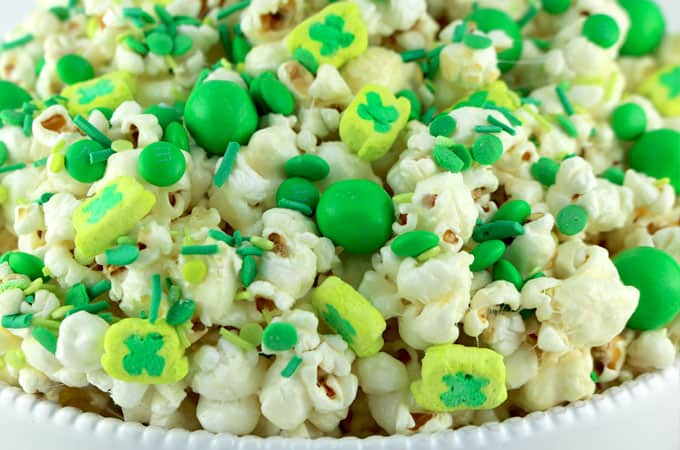 St Patrick's Day popcorn with Lucky Charms