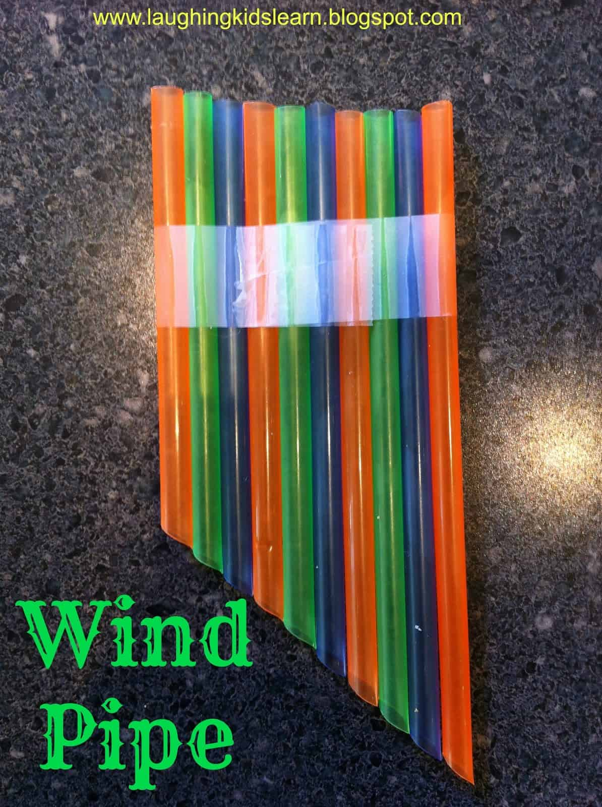 Straw wind pipe