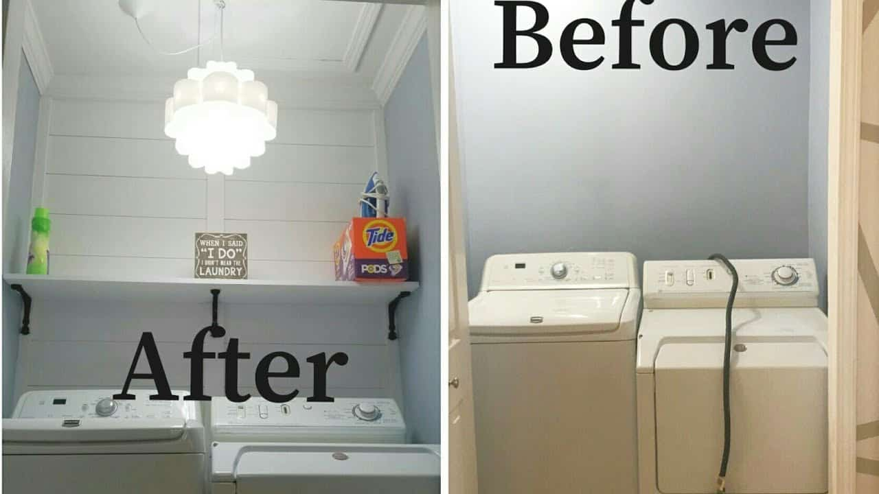Super simple closet to laundry room transformation