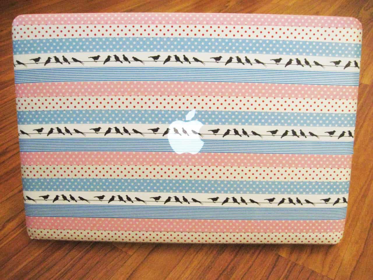 Washi tape laptop skin