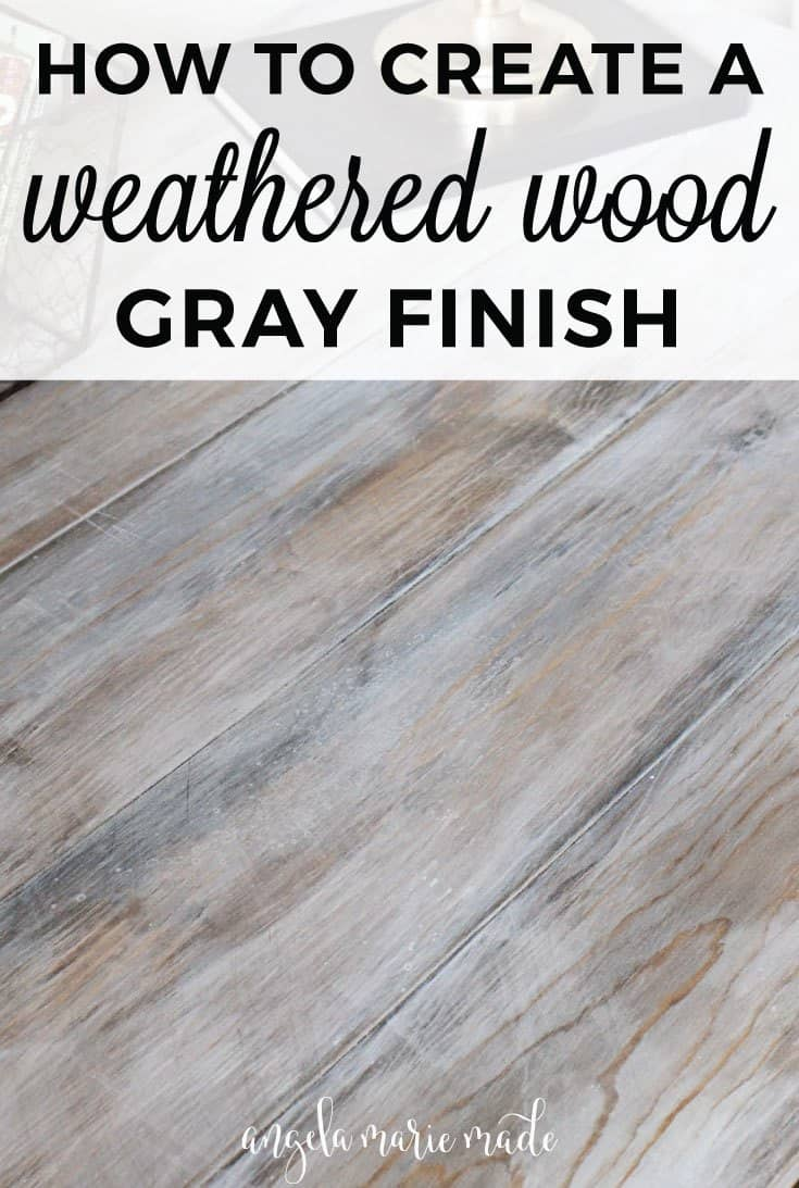 Weathered wood grey finish cabinets