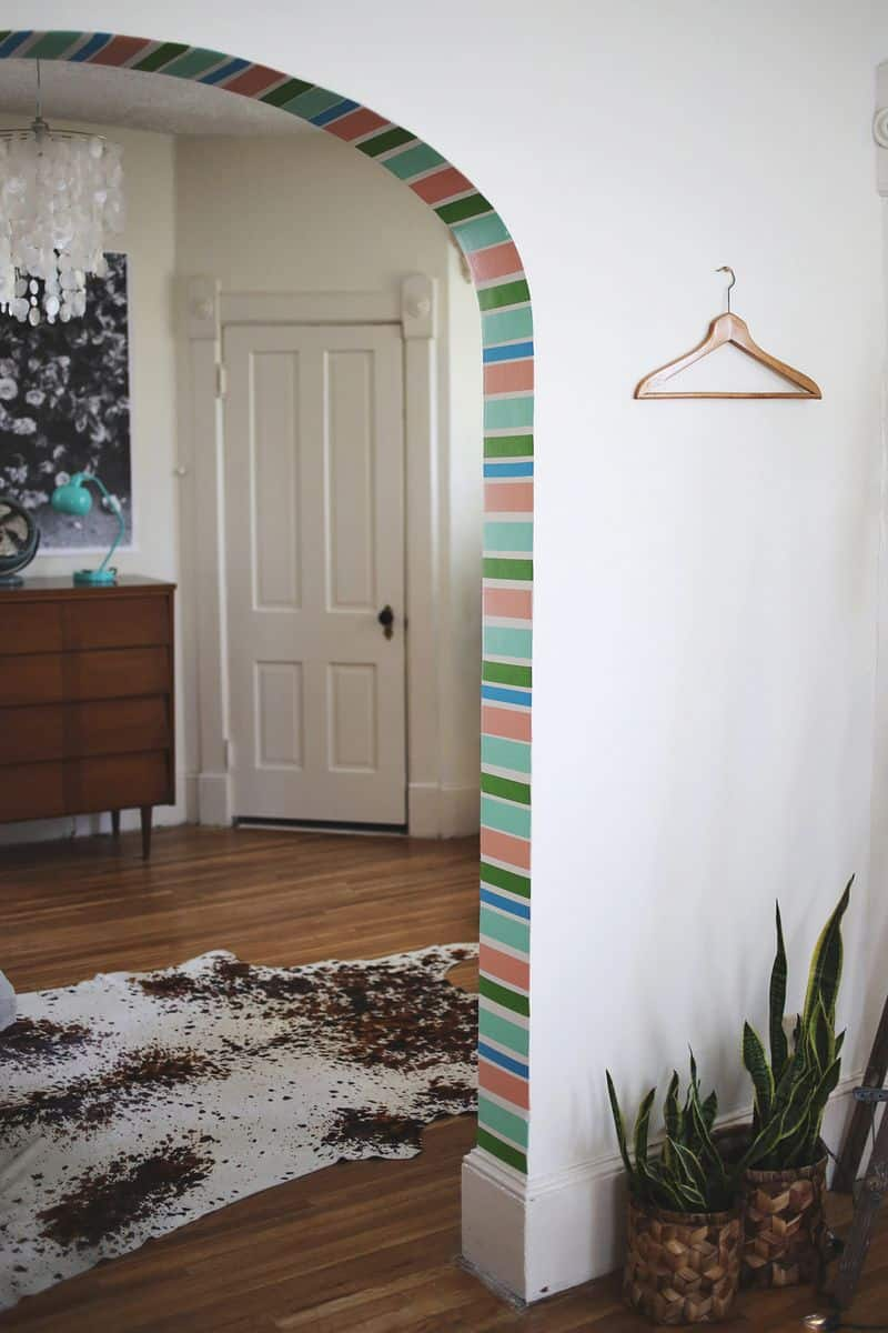 washi tape doorway arch