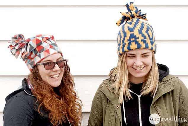 5-minute fleece hat