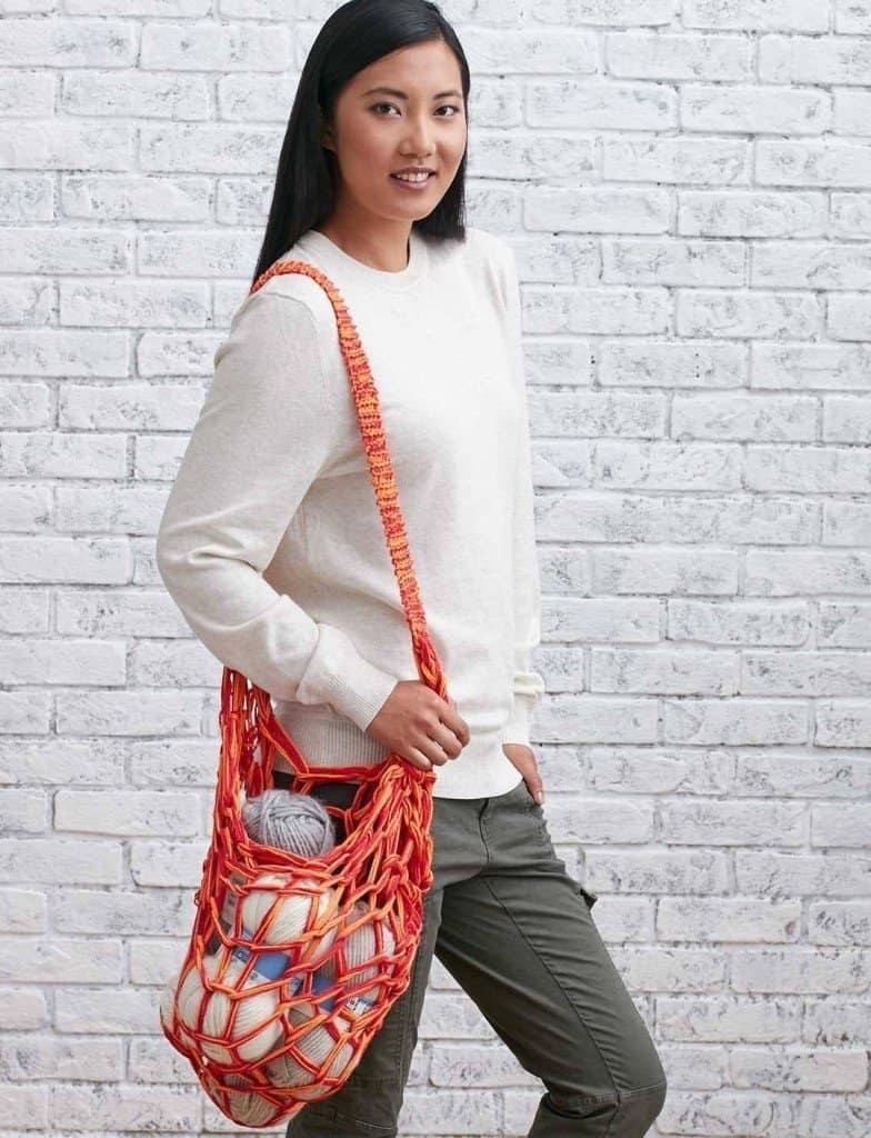 Arm knit market bag