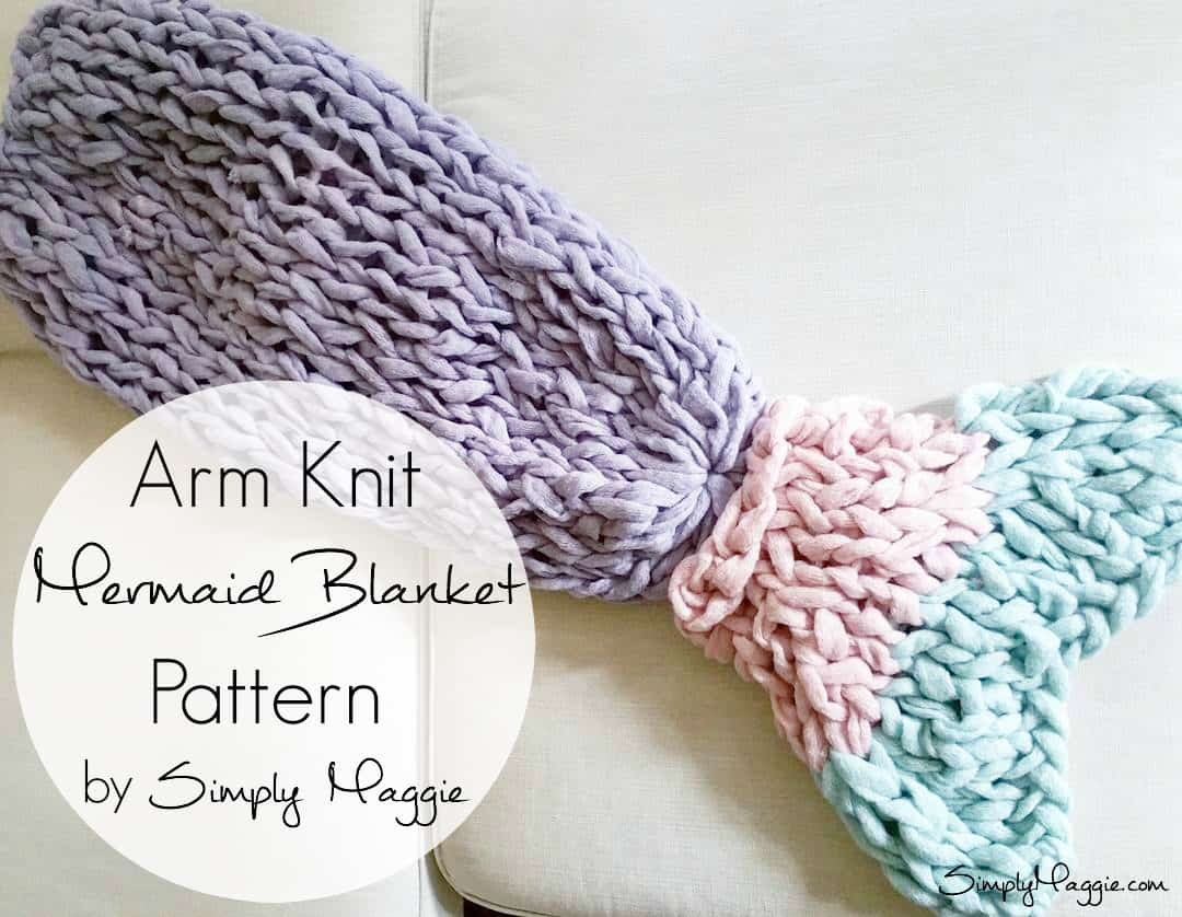 Arm knitted mermaid blanket