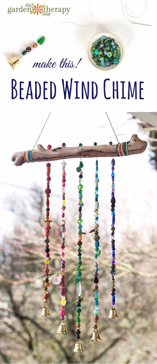 Beautiful branch and beaded wind chime