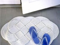 Braided rope door mat 200x150 Functionality and Form: Discover these Fantastic Homemade Floor Mats