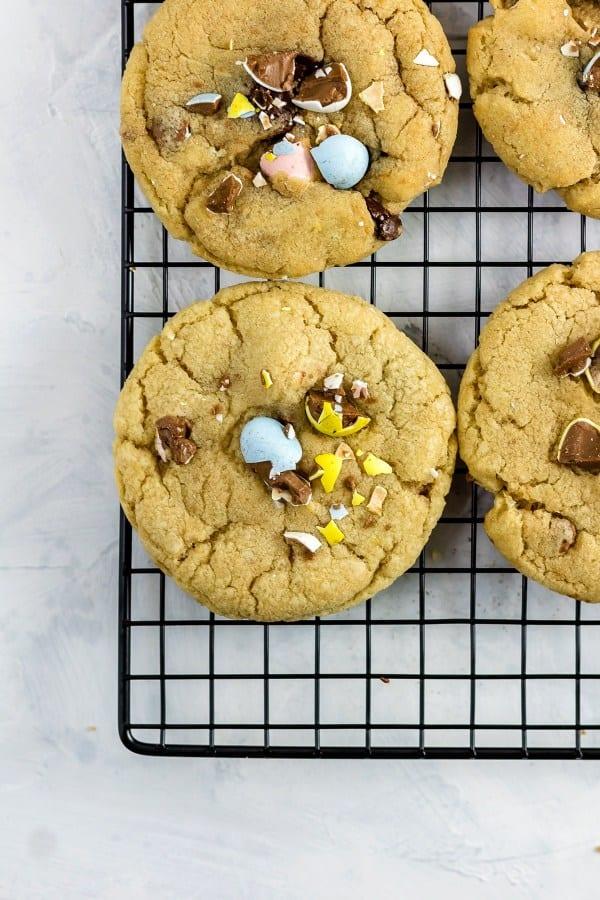 Cadbury Mini Egg chocolate chip cookies