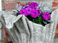Cement towel garden planter 200x150 Upcycling with Style: 12 Cool DIY Projects Made From Old Towels