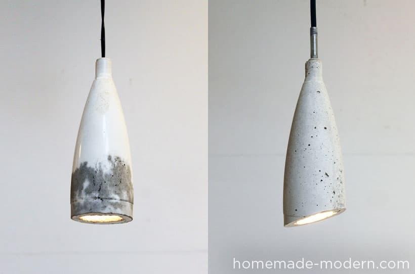 Concrete pendant lamp shade