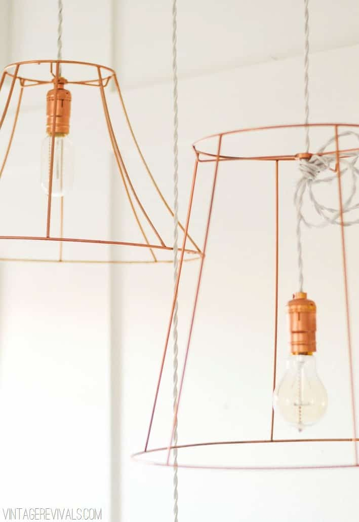 Copper wire pendant shade