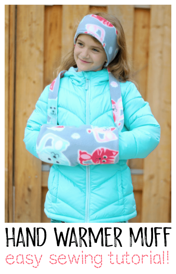 Cozy fleece hand warmer muff