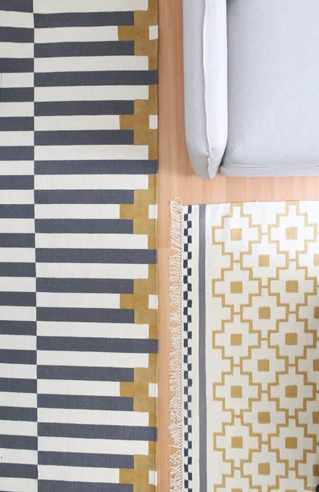 Custom painted fabric rugs