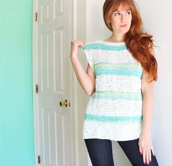 DIY Paneled Tank sweater