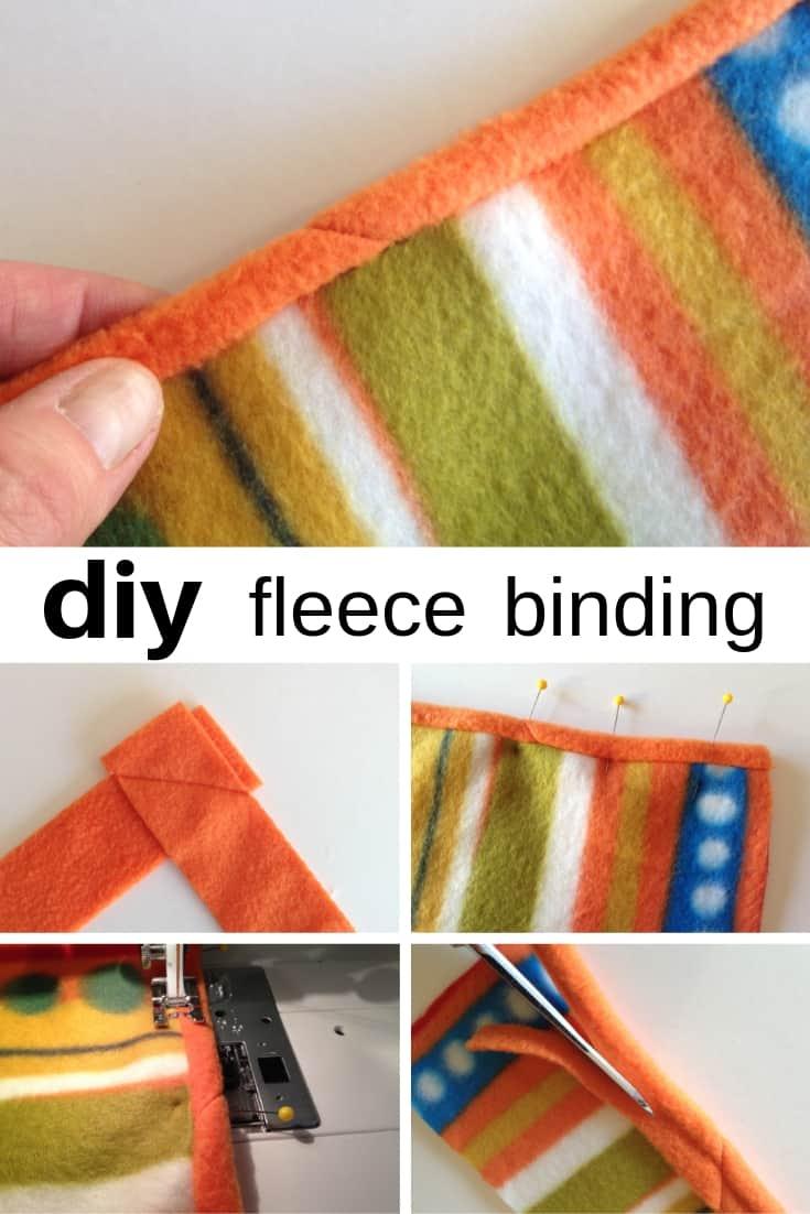 DIY fleece binding for neat edges