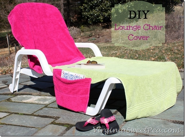 DIY lounge chair cover up