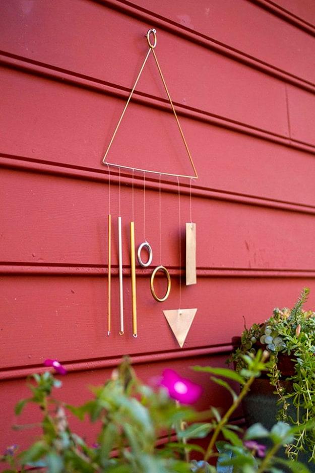 DIY modern wind chimes