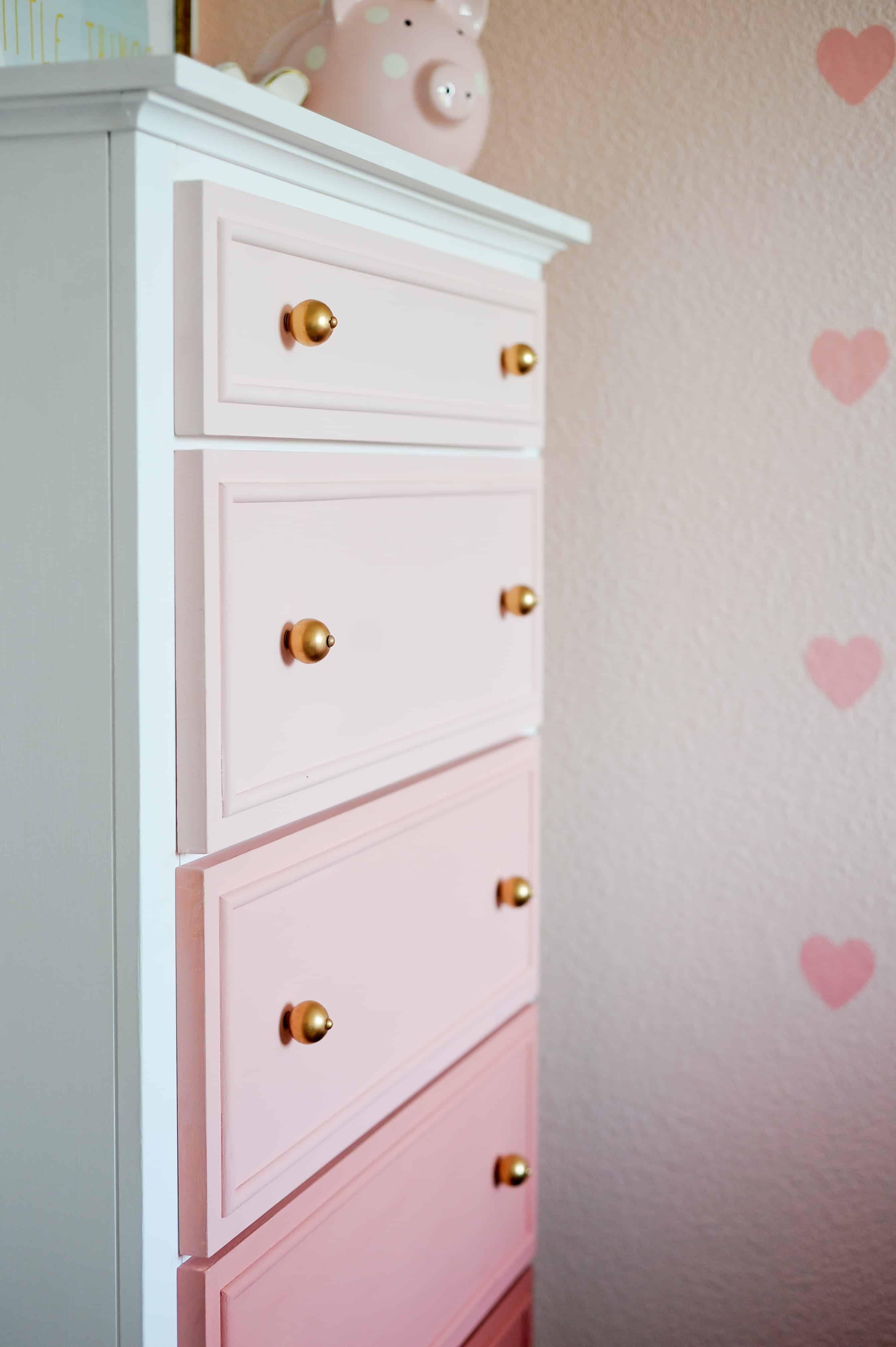 DIY pastel ombre dresser