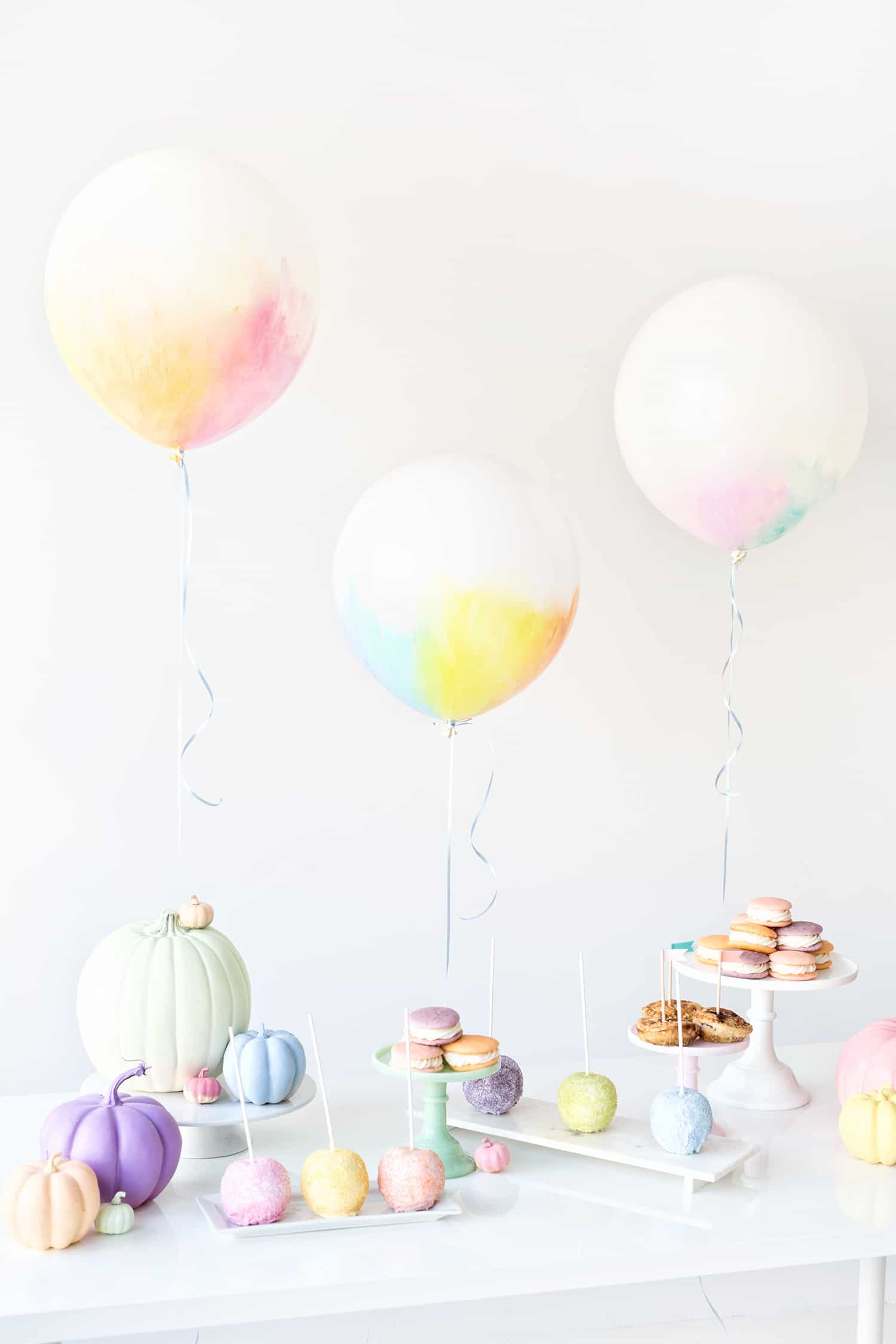 DIY pastel watercolour balloons