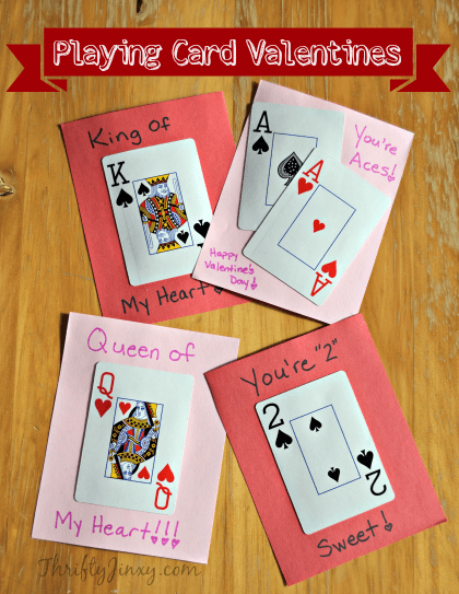 DIY playined card Valentines