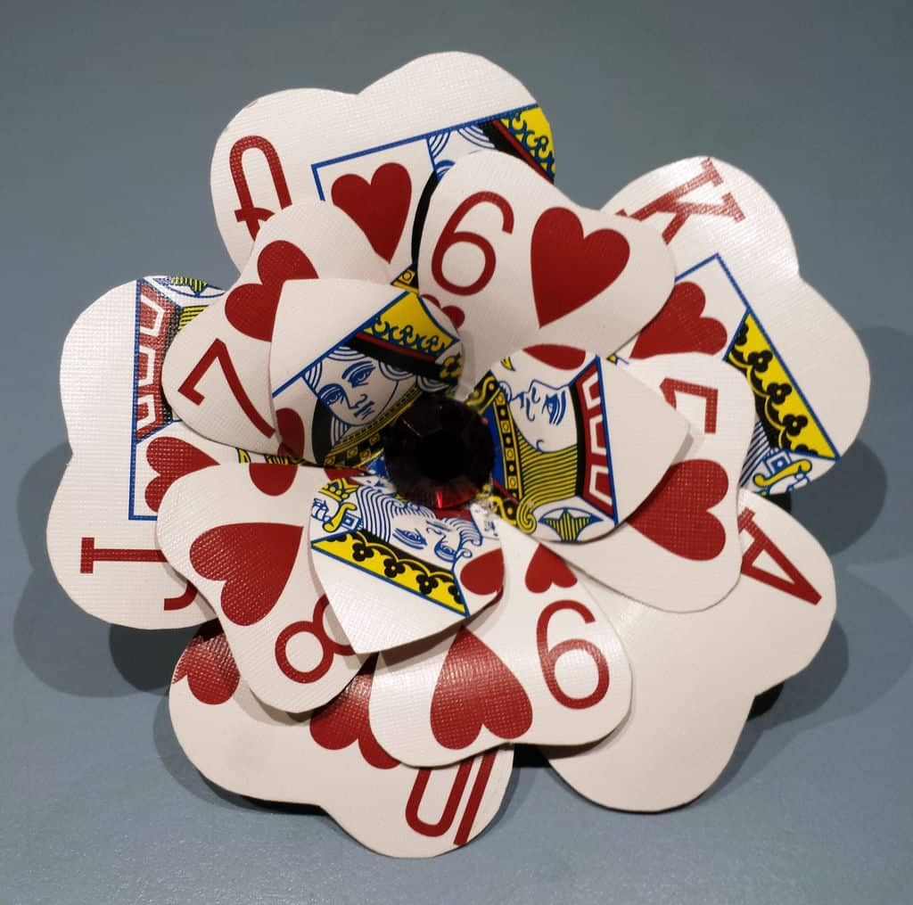 DIY playing card flowers