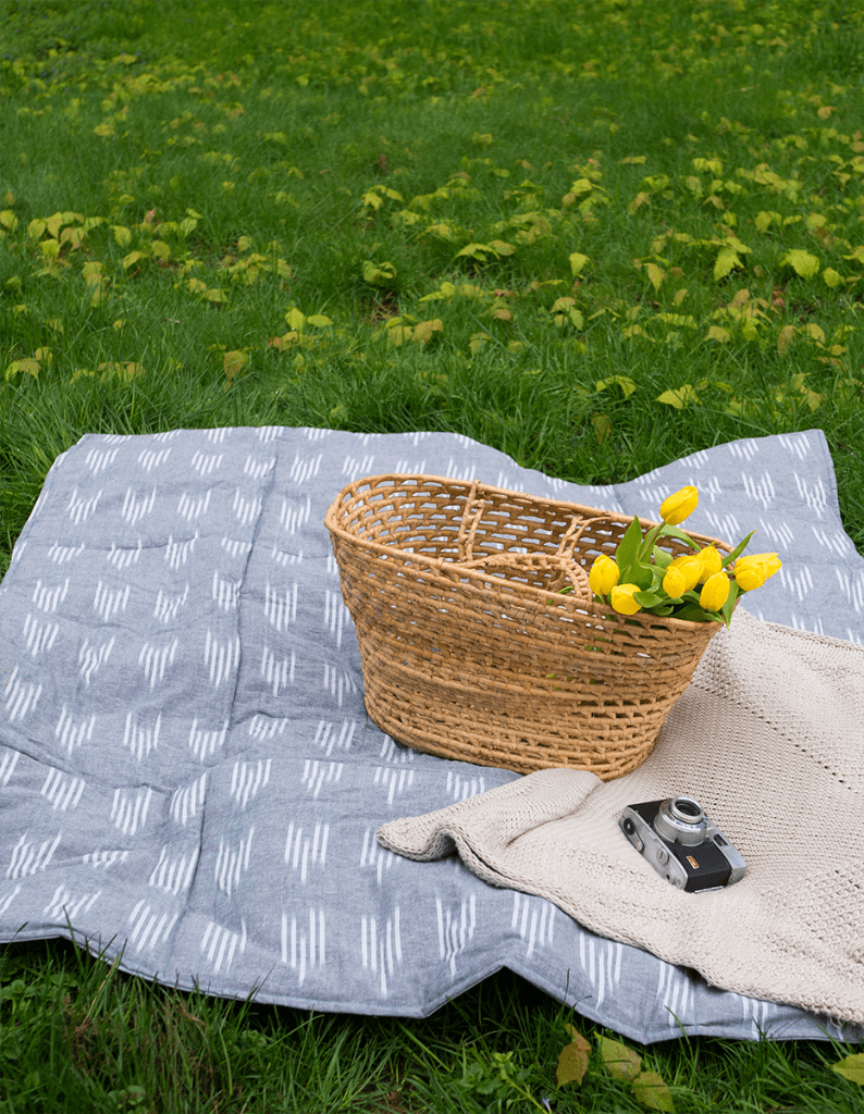 DIY waterproof quilted picnic blanket