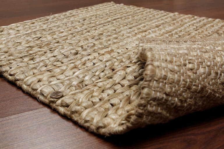 DIY woven jute rug