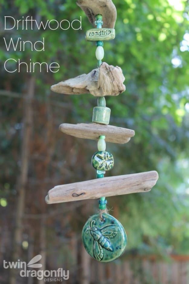 Driftwood wind chimes