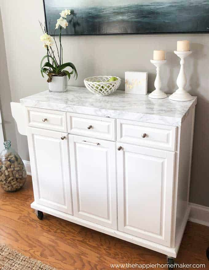 Easy faux marble island countertop