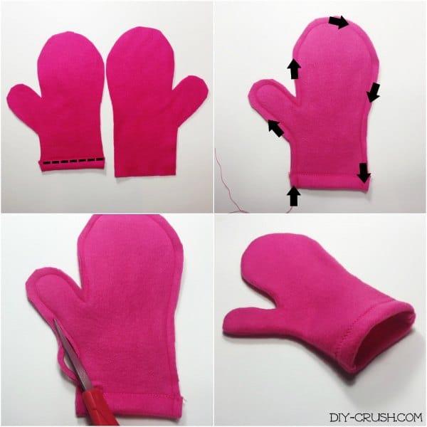 Easy fleece mittens