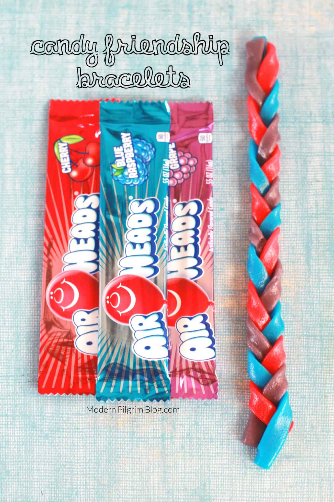 Edible braided friendship bracelets
