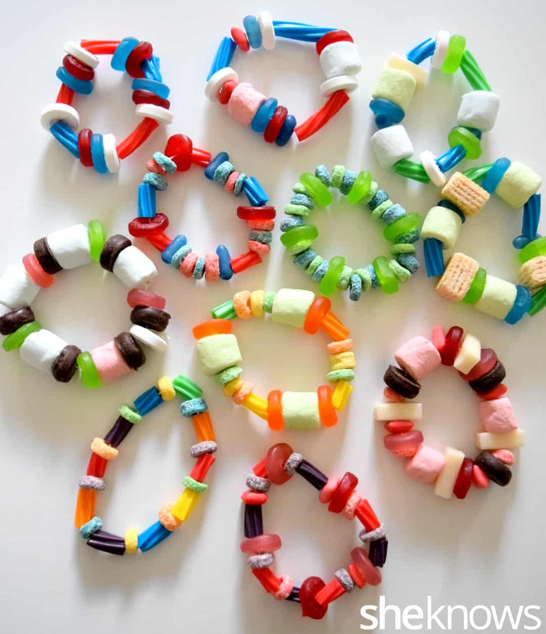 Edible candy beaded bracelets
