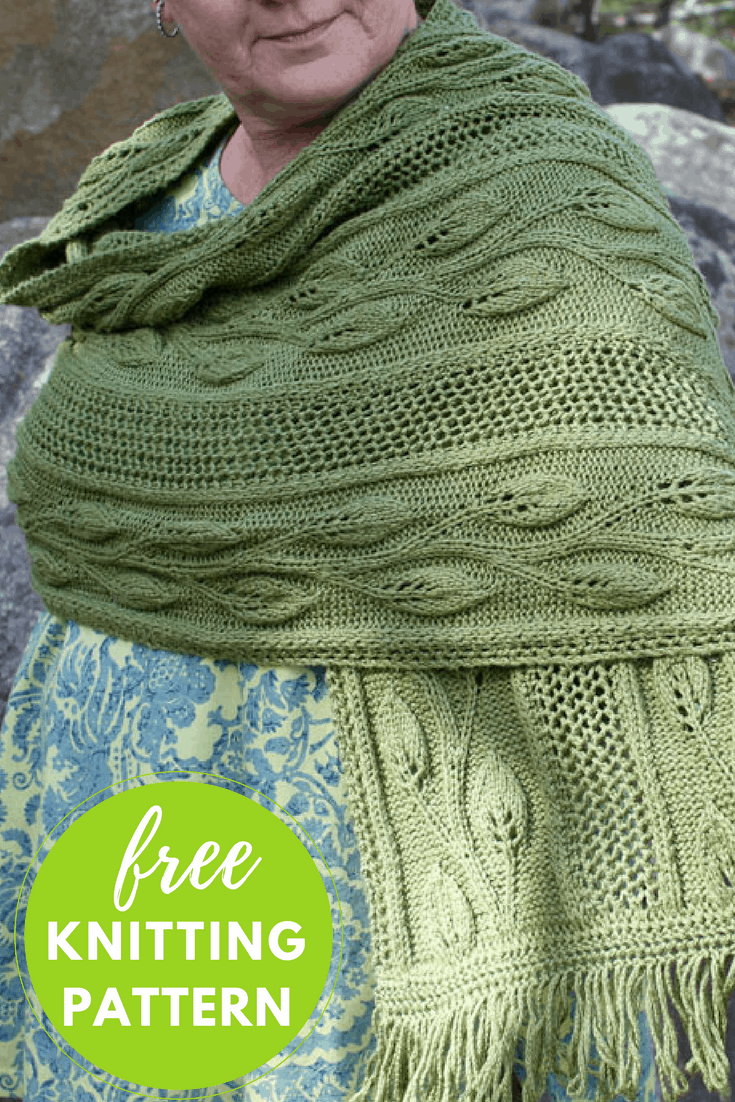 Finally Spring shawl