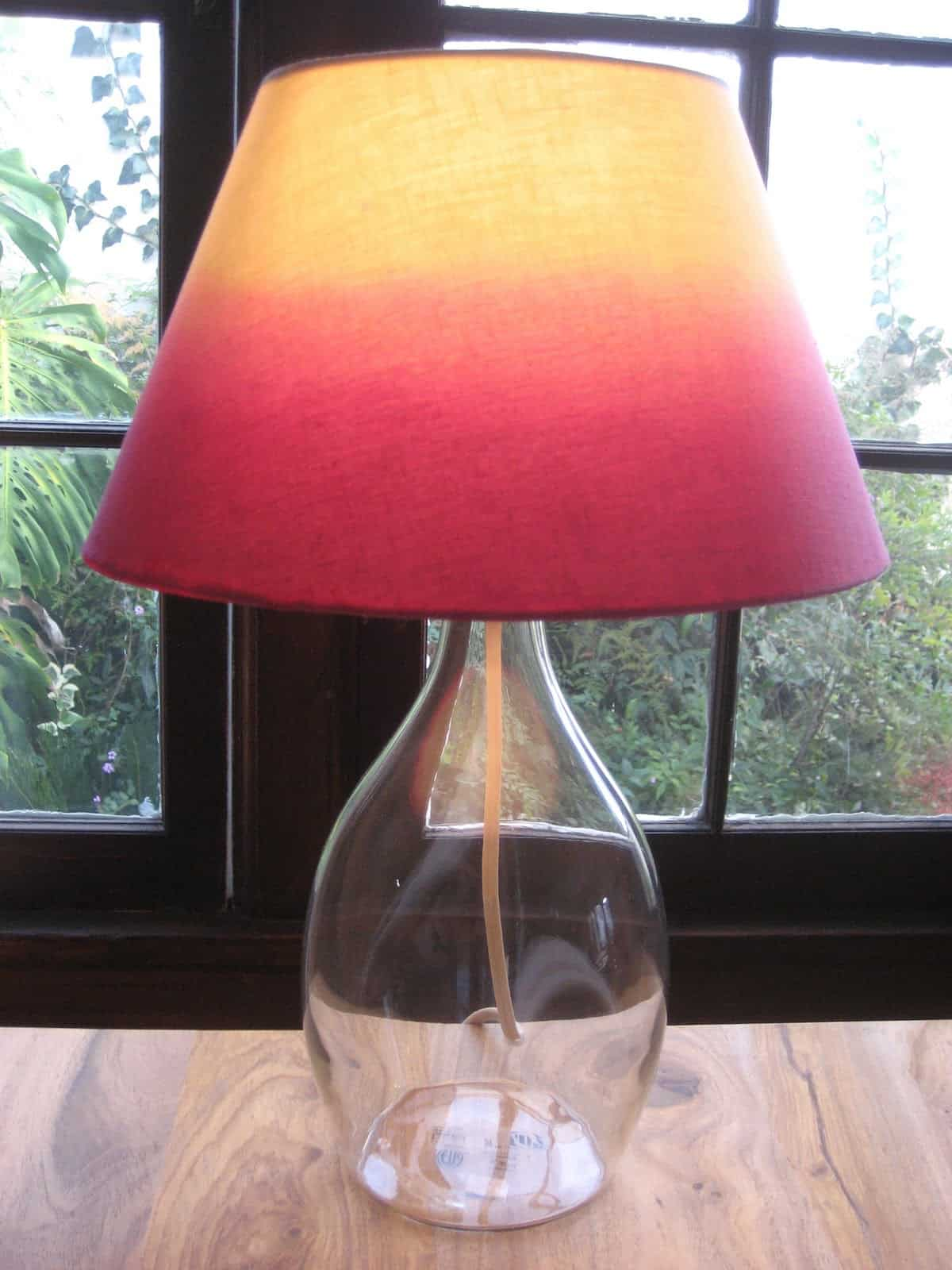 Hair dye ombre lamp shade