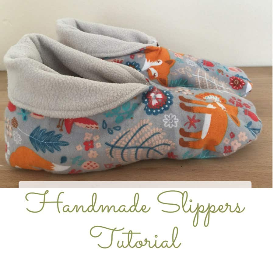 Handmade fleece slippers