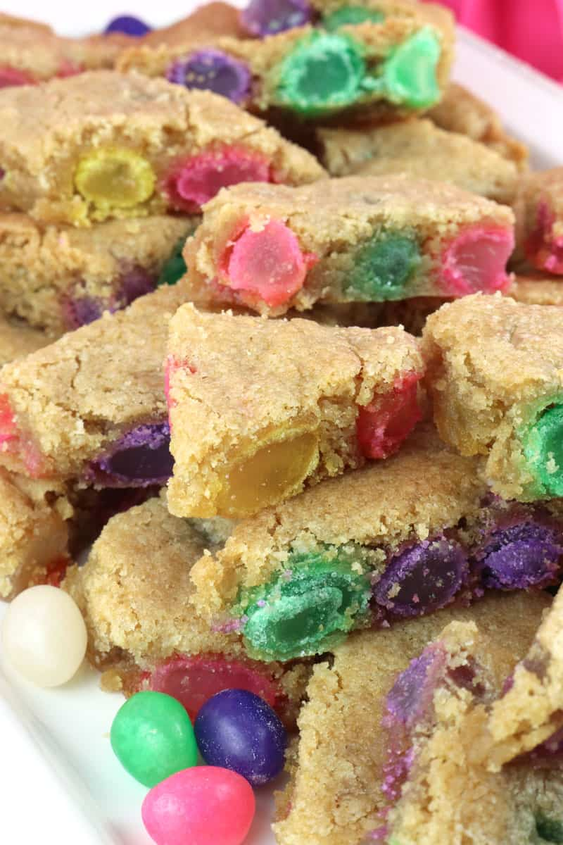 Jelly bean cookie bark