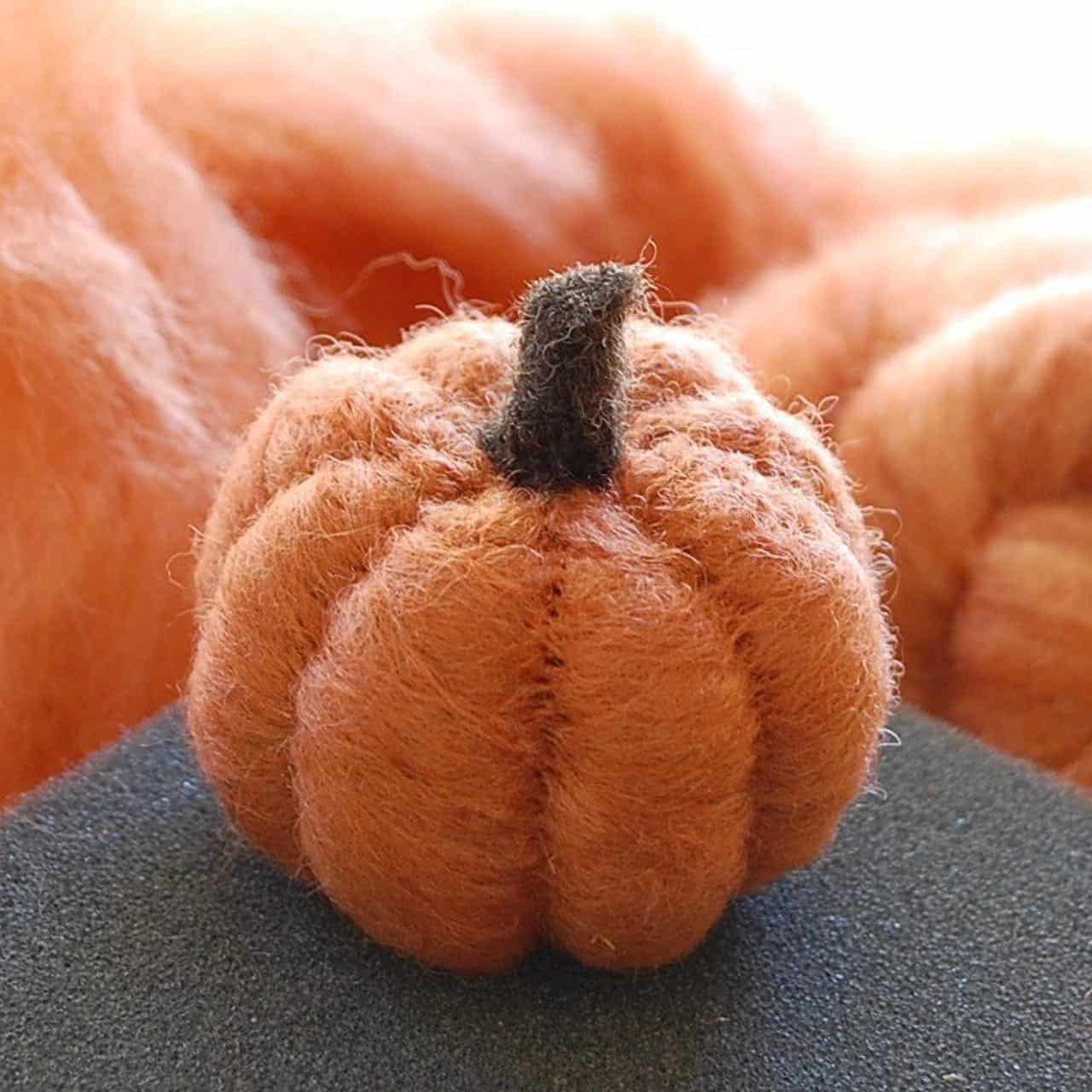 Little felted pumpkin