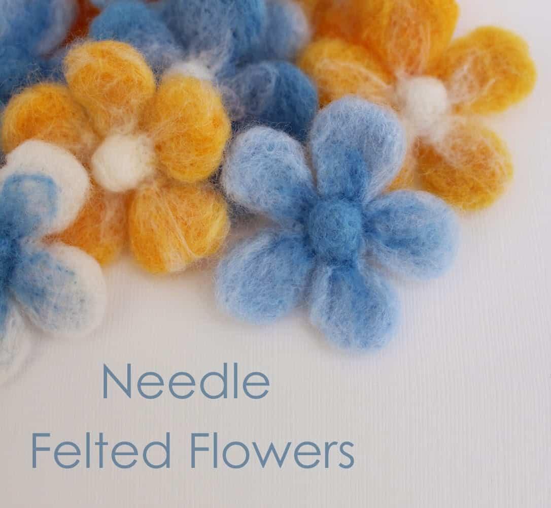 Little needle felted flowers