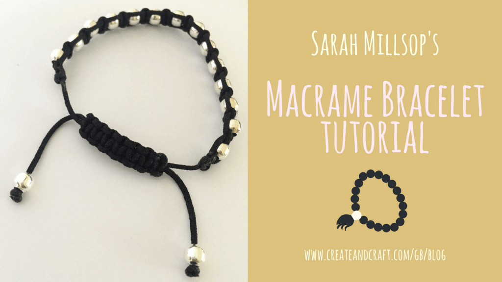 Macrame bracelet with sliding knot