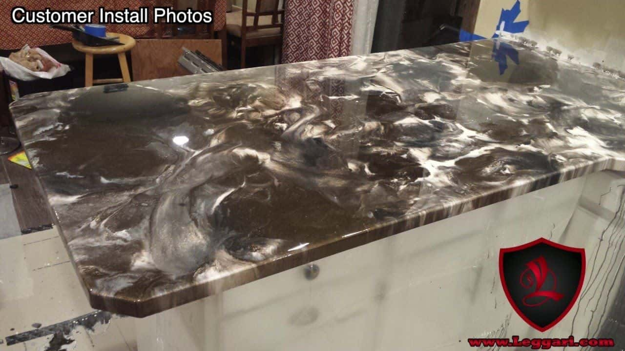 Metallix epoxy coating countertops