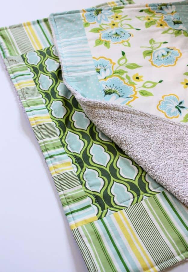 Old towel dish mat